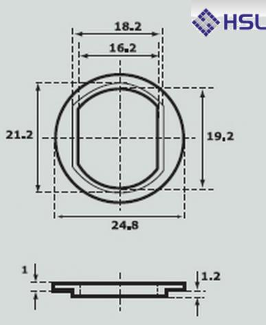 Abloy 434613 Fitting Plate
